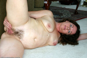 hairy milf stripping