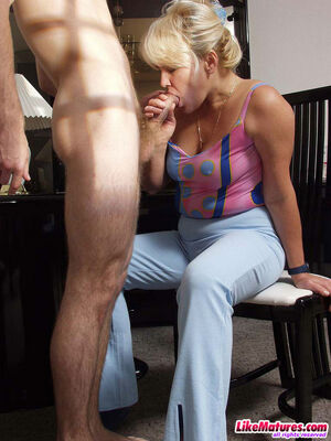 hairy blonde mom